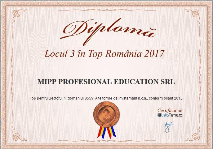 Despre noi am obtinut diploma de excelenta pentru anul 2017