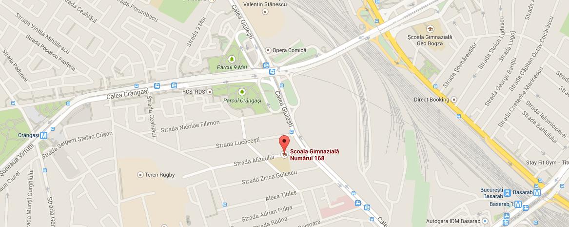 Sala de curs Str Alizeului Sc Gimnaziala 168 , metrou Crangasi Locuri de parcare